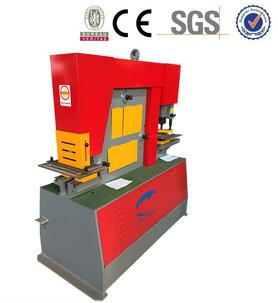 Q35Y-16 hydraulic combined punching and shearing machine/steel plate punching hole machine/angle steel cutting machine