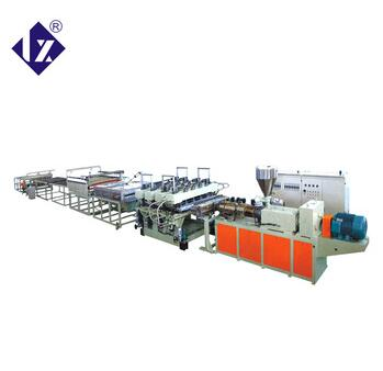 Low price high speed pp pvc thick plate extrusion line
