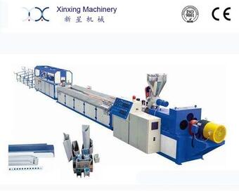 XINXING PVC UPVC WPC plastic profile extrusion production line