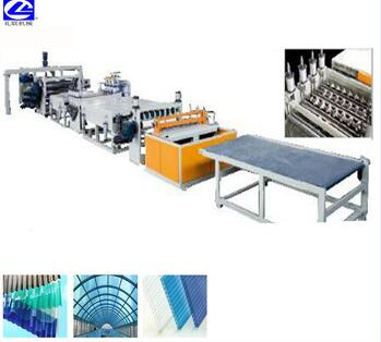 China supply PVC sunplate extruder factory home shade sheet making machine