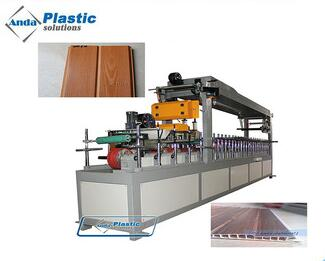 Automatic PVC door and window profile lamination machine