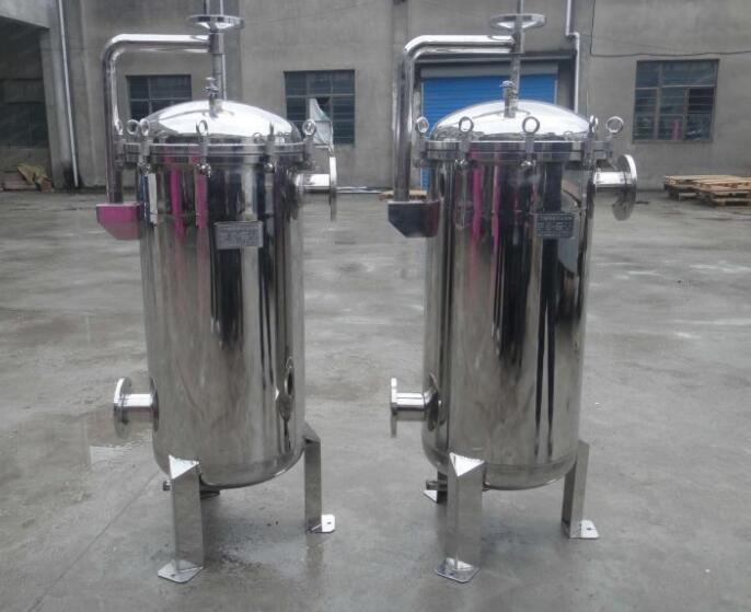 Industrial stainless steel water bag  filter housing
