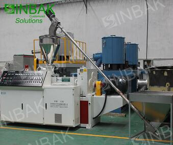 SINBAK Costomized Colorful L Shape Rigid PVC Profile Extrusion Hard Plastic Profiles Production Line