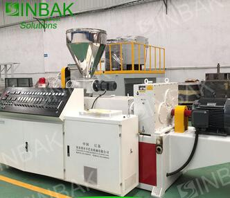 SINBAK Rigid Plastic Strip Profiles Machine for UPVC Profiles Extrusion Machine