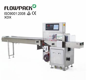 Bottom Reel Down Film Conserved Food Wrapper Pillow Pack Wrapping Equipment Inverted Horizontal Flow Wrap Machine