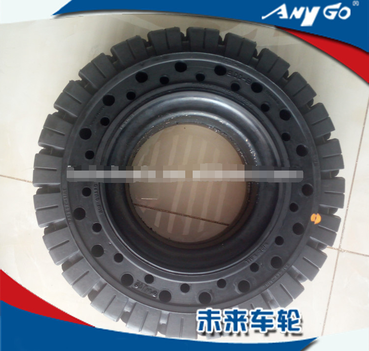 pattern Click solid rubber tires with side hole