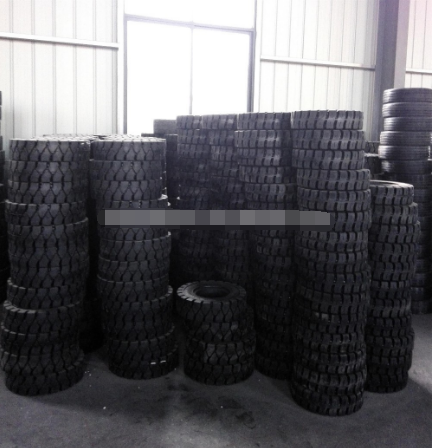 Stability Safety Press on solid tyres