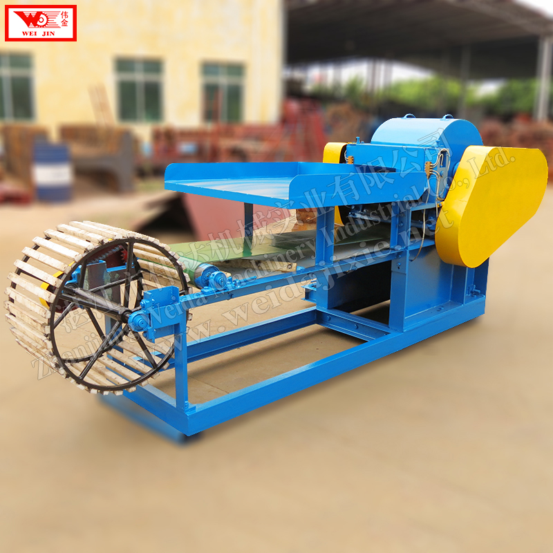 Wild flax bast fiber  processing machineautomatic fiber decorticator supplied by Zhanjiang Weijin brand factory  extract clean fiber low intensity  extract clean fiber low intensity
