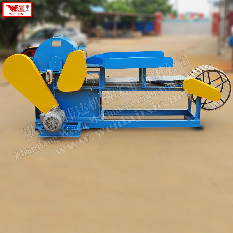 Banana stem peeling machine  automatic fiber decorticator supplied by Zhanjiang Weijin brand factory  extract clean fiber low intensity