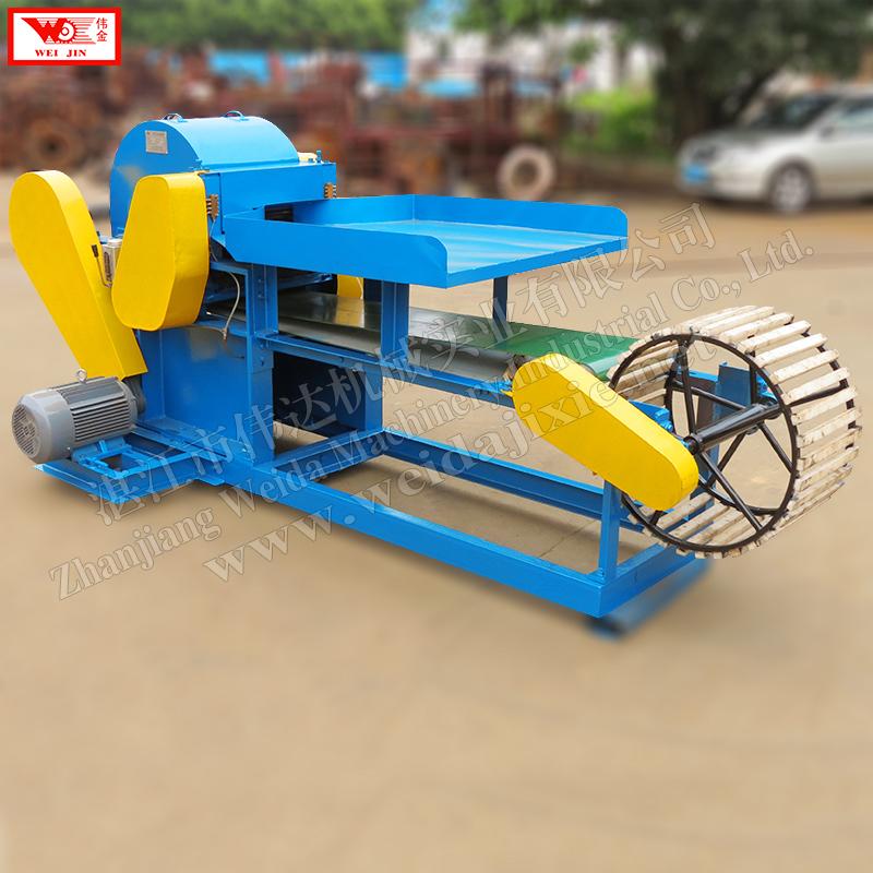 Automatic hemp fiber extractor Weijin brand fiber production line supplied by factory directly,hemp plant sheller