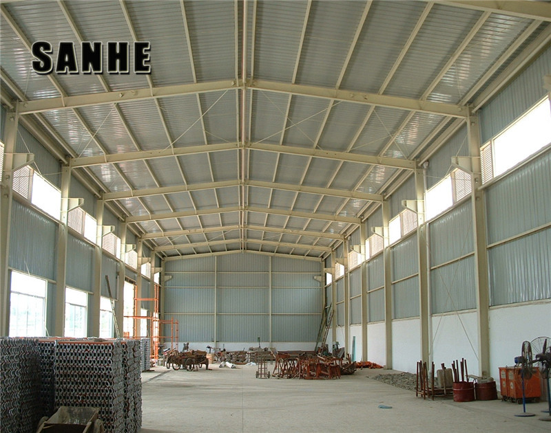 Steel building construction warehouse hangar