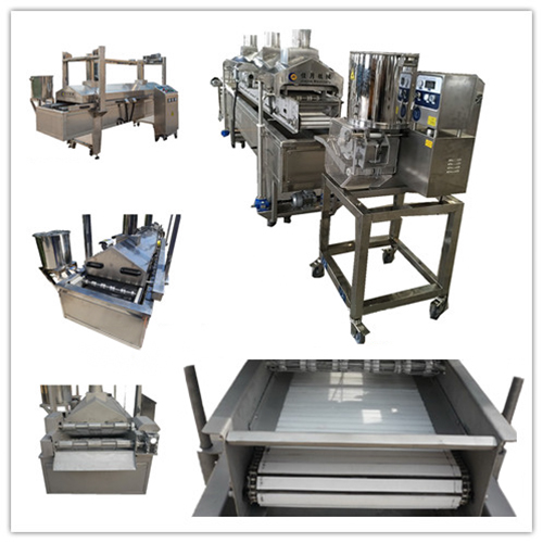 Continuous Chicken Nuggets Frying Production Line