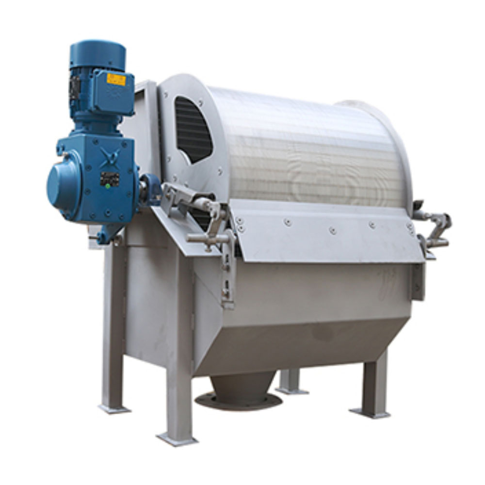 rotary drum filter for wastewater sludge treatment