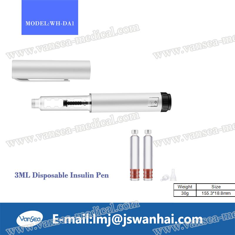 Reusable plastic insulin pen for market