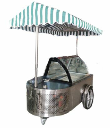 High Quality Mobile Gelato Display Cart / Mexican Ice Cream Cart For Sale / Mobile Ice Cream Cart Price