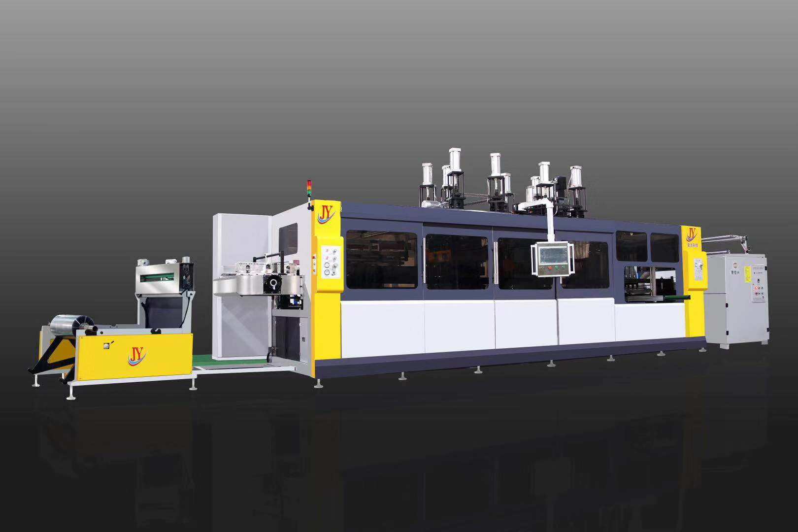 JY-820-600 Three Station Plastic Container Thermoforming Machine