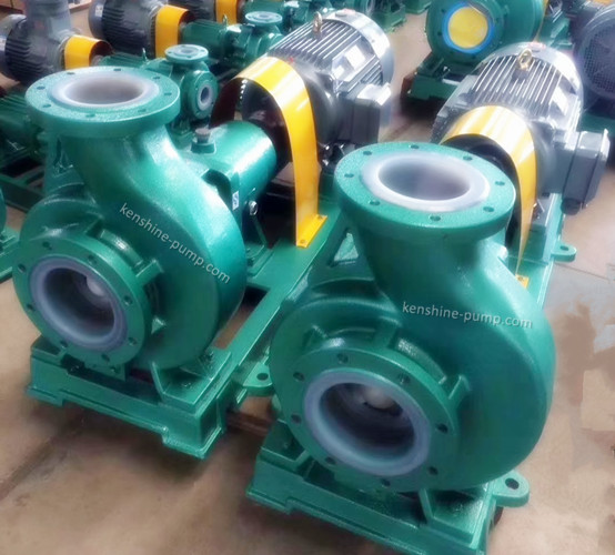 IHF Fluorine plastic liner centrifugal chemical transfer pump
