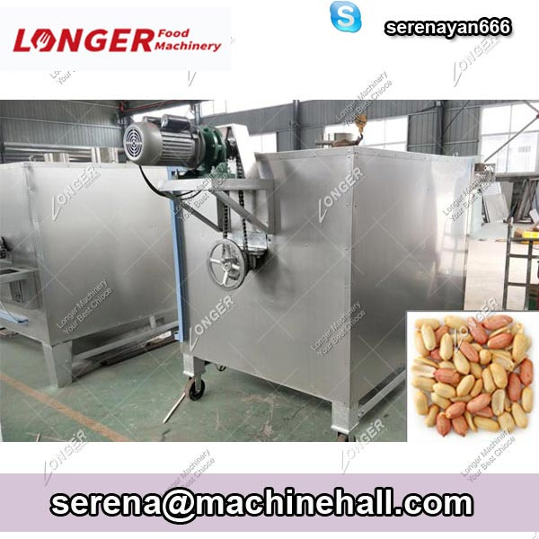 Drum Type Peanut Nuts Roasting Machine 100-500 KG / H