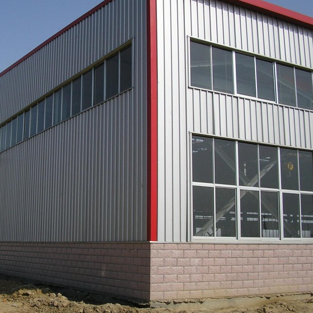 Pre engineered metal frame warehouse for storage shed